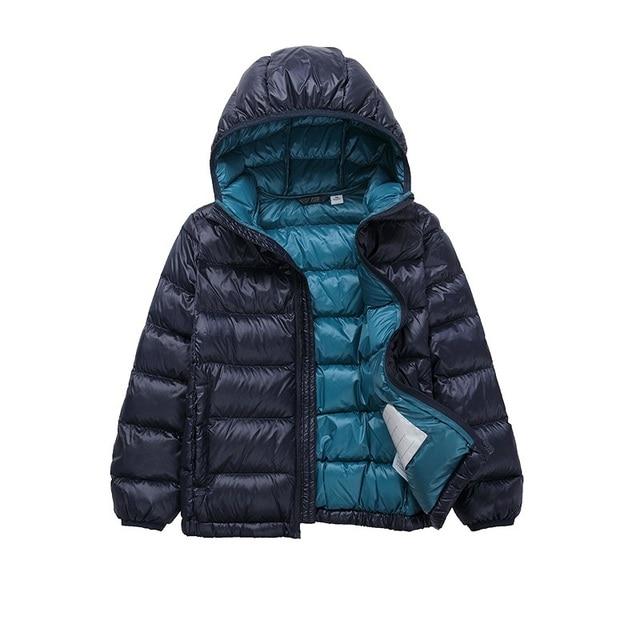 b355930ef Ultra Light 2018 Winter Boys Down Jacket coat Hooded Overcoat Girls ...