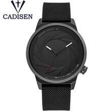 cadisen Brand  Watch Ultra Thin Stainless Steel Clock Men Women Unisex Sport Wristwatch Silica Gel Relogio Masculino