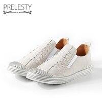 Prelesty Cool Classic Design Breathable Men Walking Shoes Casual Men Loafers Slip Ons Men Shoes Flat