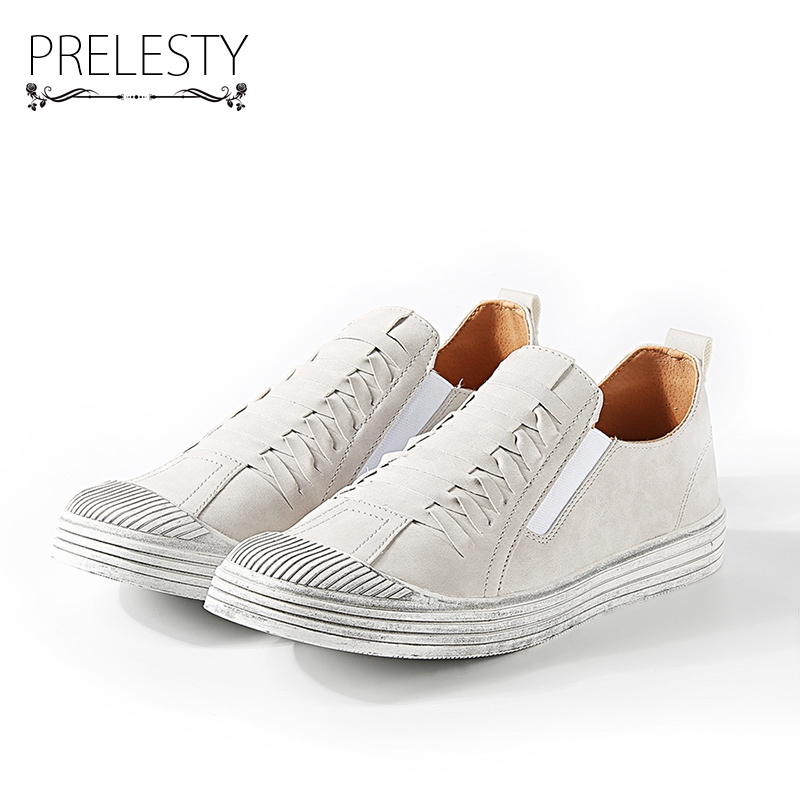 Prelesty Cool Classic Design Breathable Men Walking Shoes Casual Men Loafers Slip Ons Men Shoes Flat Basic Footwear bimuduiyu new england style men s carrefour flat casual shoes minimalist breathable soft leisure men lazy drivng walking loafer