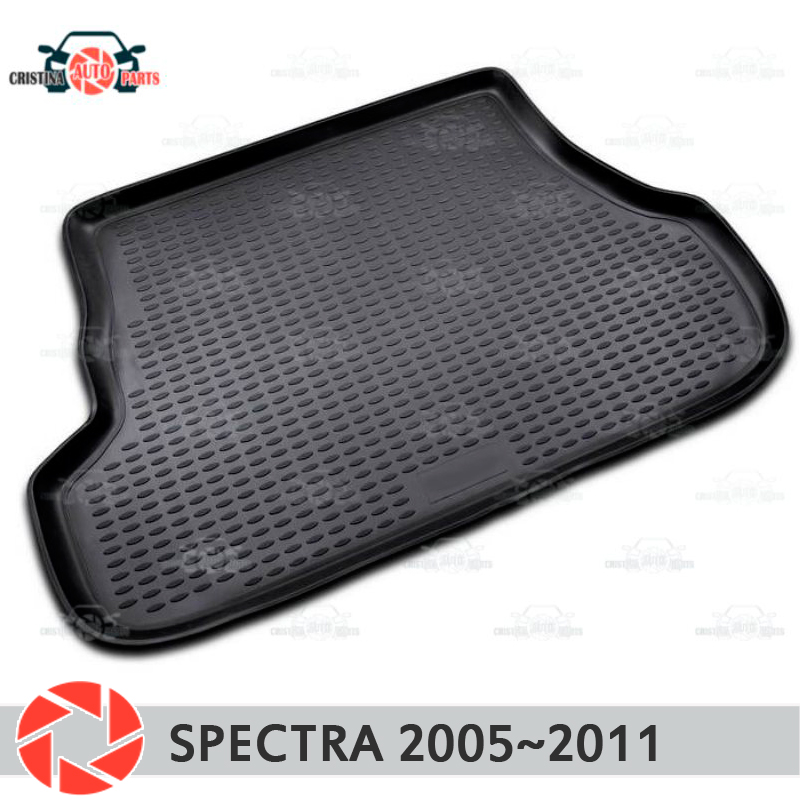 Trunk mat for Kia Spectra 2005~2011 trunk floor rugs non slip polyurethane dirt protection interior trunk car styling