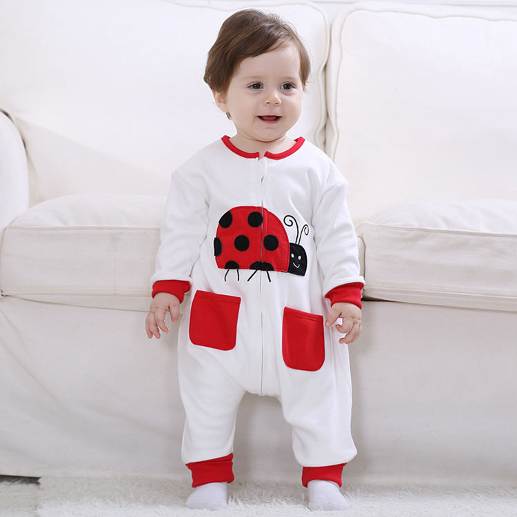 Red Ladubug Character Baby Romper 100% Cotton Fleece Newborn Baby Overalls 2017 New Toddlers Baby Clothes for 9 Month RL4-9 2017 new baby romper 100