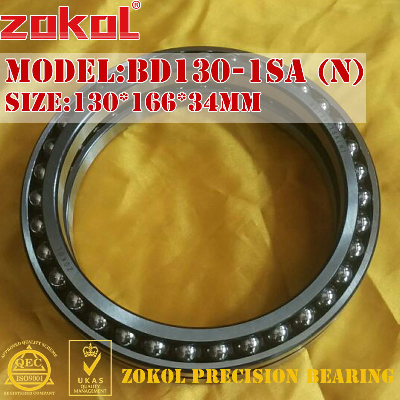 ZOKOL bearing BD130-1SA (N) Excavator walking bearings BD130-1SA Thin wall Double row bearings 130*166*34mm