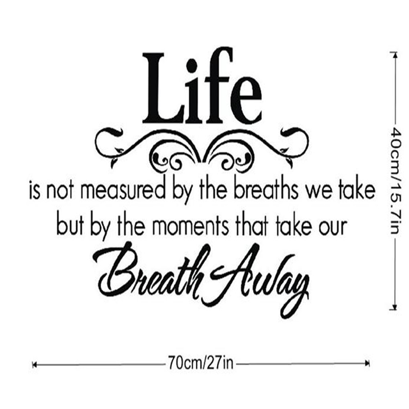 Life Maxim Wall Sticker Removable Vinyl Decal Home Living Room Office Decor