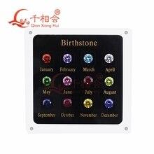 12 birthstone  cubic zirconia and corundum loose gemstone display tools box  diamond tester master set
