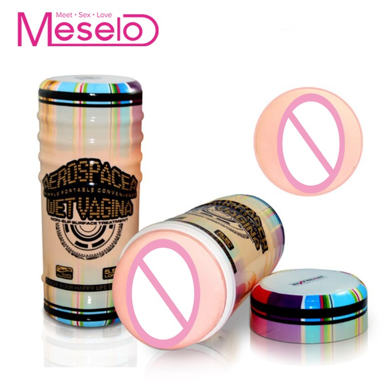 Buy Meselo Masturbator Man Silicon Gel Realistic Vagina Penis Trainer Delay Ejacuation Pussy Sex Toys Men Adult Product