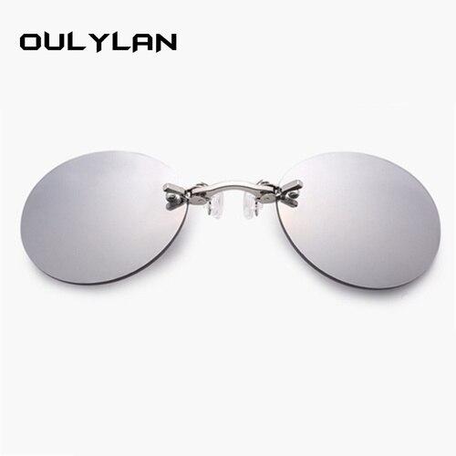 055e735428cc ... Oulylan Matrix Morpheus Round Rimless Sunglasses Men Classic Clamp Nose  Sun Glasses Mens Mini Frameless Brand ...
