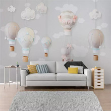 Simple cartoon balloon childrens room background wall professional making murals, wallpaper wholesale, custom poster photo