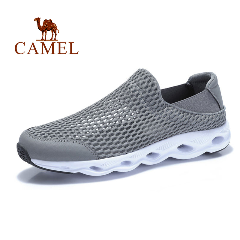 CAMEL Men's Shoes Mesh Couple Casual Shoes Men And Women Shoes Breathable Outdoor Lightweight Large Hole Cool Men Sandals