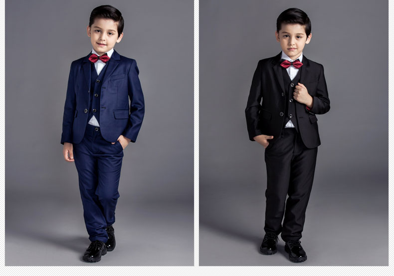 32fdfab138beb fashion baby boys kids blazers boy suit for weddings prom formal black/navy  blue dress wedding boy suits 5pcs 2017new arrival - aliexpress.com -  imall.com