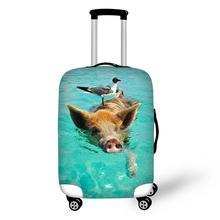 Animal Pig Print Travel Accessories Suitcase Protective Covers 18-32 Inch Elastic Luggage Dust Cover Case Stretchable