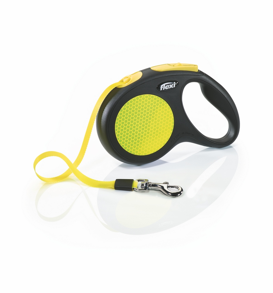 Lead tape measure Flexi for dogs Neon New Classic M (up to 25 kg), tape, 5 m. Dog Accessories wholesale wholesale steel tape wholesale tape 3 m 5 m 7 5 m 10 m tape measure and cheap