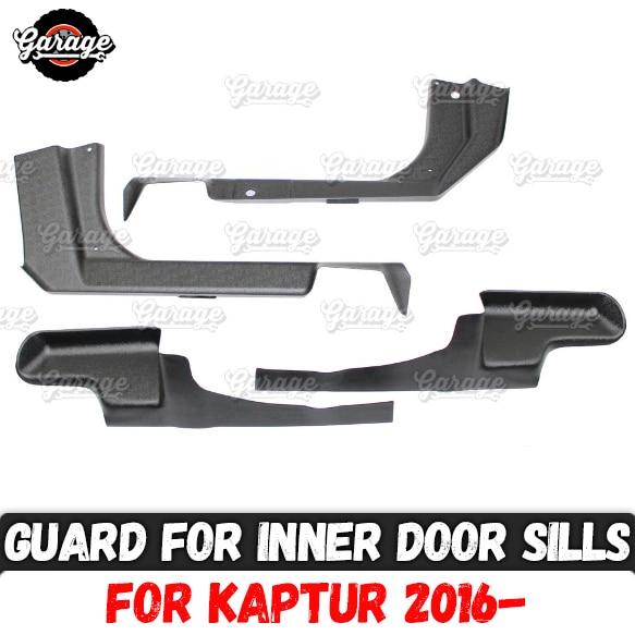 Guard of inner door sills for Renault Kaptur 2016 ABS plastic 1 set 4 pcs trim