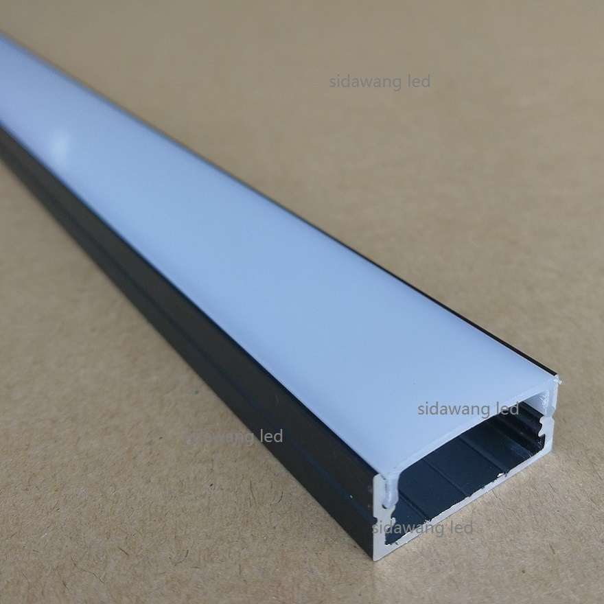 5pcs 10meters x 2000mm Black anodized aluminum led channel profile for under cabinet led bar light