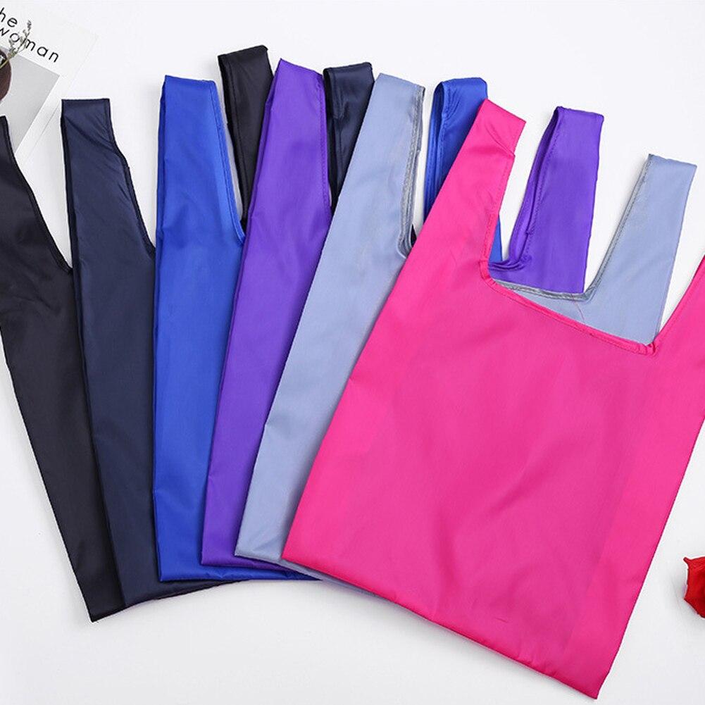 Women Men Reusable Shopping Bag Large Folding Tote Grocery Bags Convenient Storage Handbags