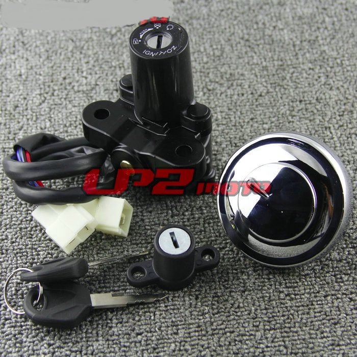Ignition Switch Gas Cap Key Set for <font><b>Yamaha</b></font> <font><b>XVS950</b></font> DragStar Midnight V Star Tourer 09-17 image