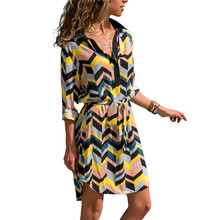 Women's Summer Long Chiffon Striped Dress