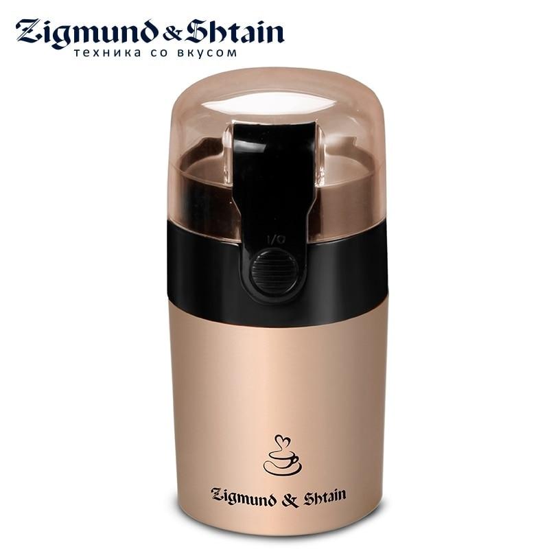 Zigmund & Shtain ZCG-08 Electric Coffee Grinder Mini Home Kitchen Salt Pepper Mill Spice Nuts Seeds Coffee Bean Grinder Machine