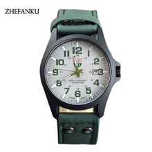 Men's Watch Fashion Luxury Outdoor Sports Calendar Date Mens Steel Analog Quartz Watch Military Army Wrist Watches