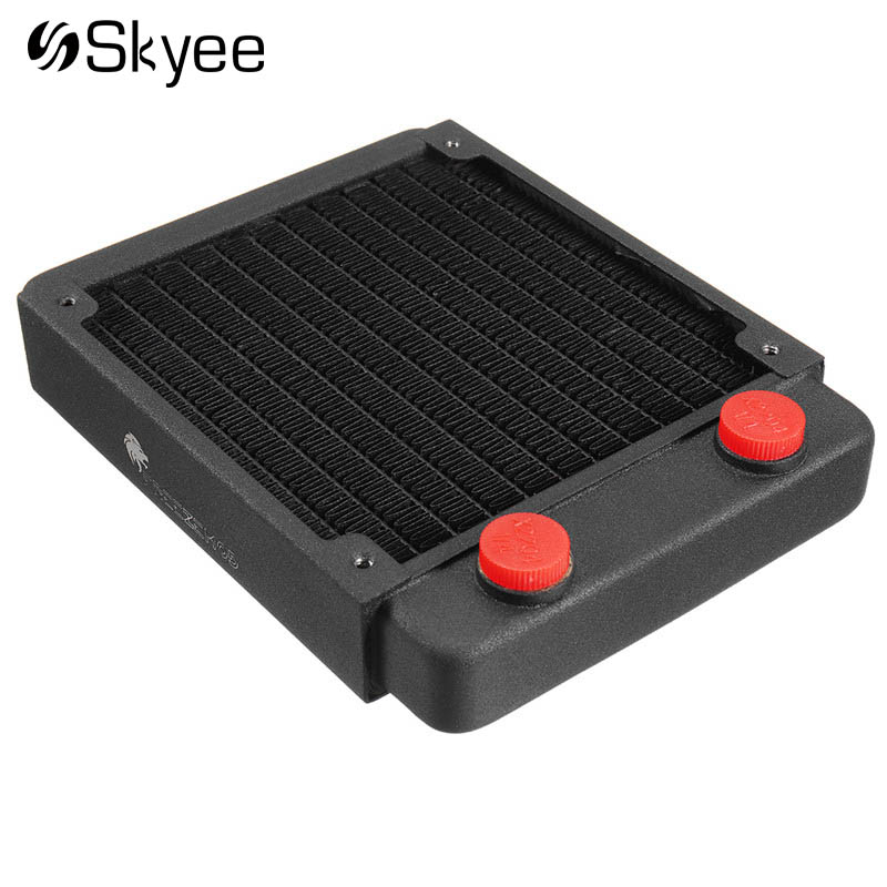 Full-copper Water Cooling Heatsink 2.5cm/1'' Ultrathin Computer Case Water Cooling Cooler Thread Radiator Heat Sink Exchanger jeyi cooling warship copper m 2 heatsink nvme heat sink ngff m 2 2280 aluminum sheet thermal conductivity silicon wafer cooling