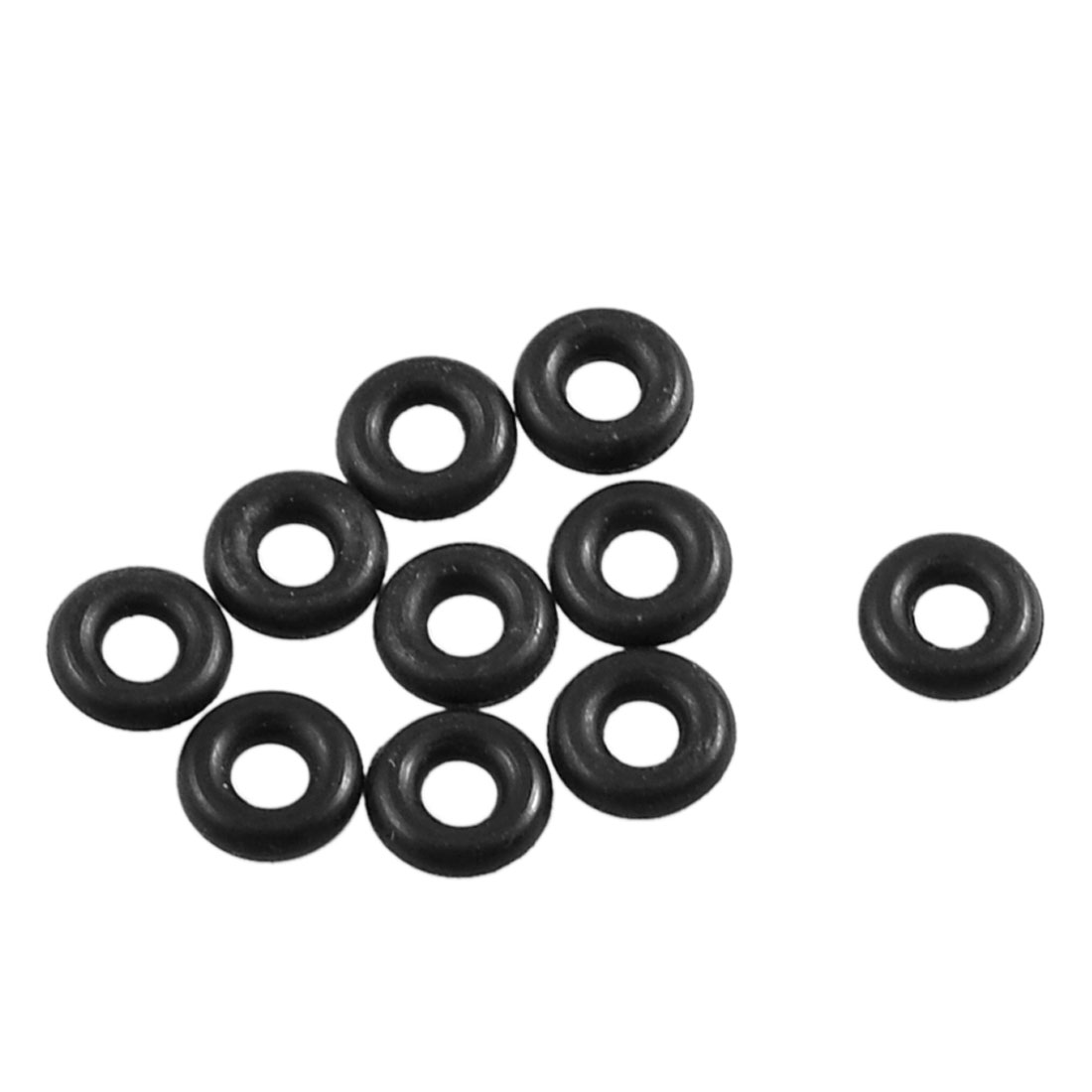 uxcell 20pcs Black 14mm x 11mm x 1.5mm Rubber O Ring Oil Seal Sealing Gaskets