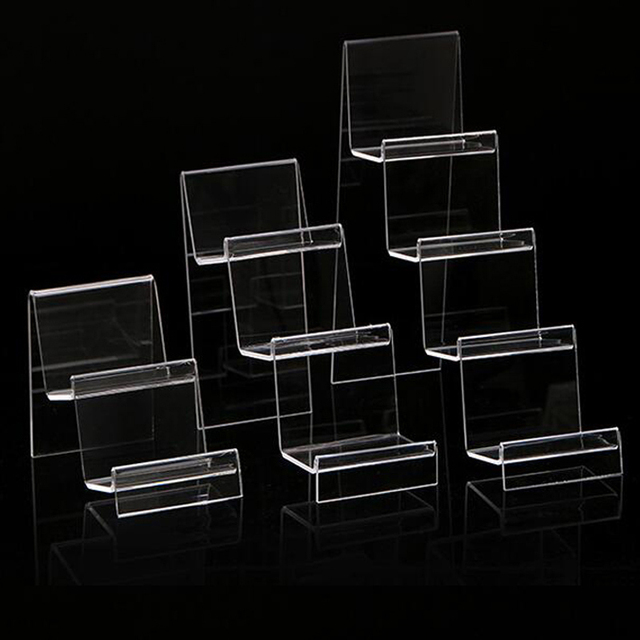 New Clear Acrylic Four Layers Cellphone Holder Mobile Phone Rack Portable Phones Shelf Wallet Stand Living Room Storage Rack