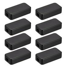 Uxcell 1.57 x 0.79 0.41inch / 40 20 10.5mm Plastic ABS DIY Electronic Junction Box Enclosure Case Black 8Pcs