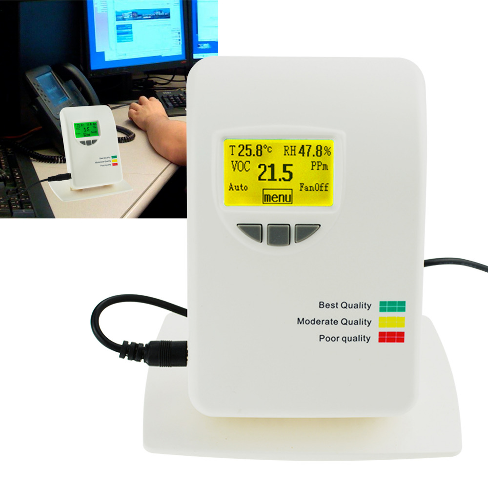 VOC Air Quality IAQ Meter Detector Monitor Tester 0~50ppm Indoor for Home Type Indoor Offices Bedrooms Air Contaminants Tester VOC Air Quality IAQ Meter Detector Monitor Tester 0~50ppm Indoor for Home Type Indoor Offices Bedrooms Air Contaminants Tester