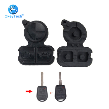 OkeyTech 1pcs/lot For BMW 3 Buttons Replacement Remote Fob Key Button Repair Pad For BMW Series 3 5 7 E38 E39 E36 Z3 Z4 Z8 X3 X5 image