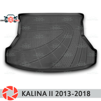 For Lada Kalina II 2013 2018 trunk mat floor rugs non slip polyurethane dirt protection interior trunk car styling