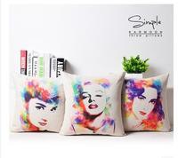 45x45 cm sáng tạo Marilyn Monroe Audrey Hepburn Trang Chủ Trang Trí Cushion Cover Ném Pillow Case xe trang trí màu case cho gối
