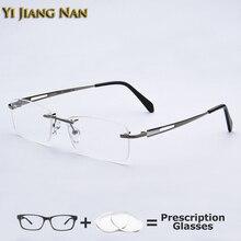 Top Quality Men Pure Titanium Glasses Frameless Eyeglasses Male Prescri