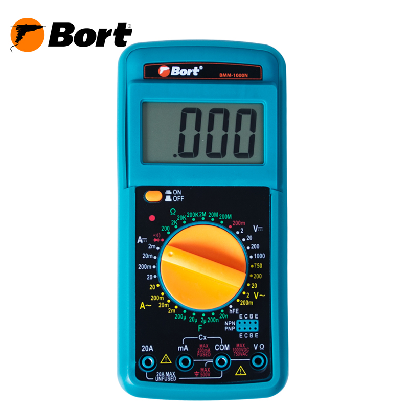 Digital Multimeter Bort BMM-1000N xl830l lcd digital voltmeter ohmmeter ammeter ohm multimeter tester