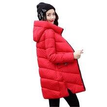 Лидер продаж зима вниз толстые куртки и пальто для Для женщин высокое качество парка 6 цветов зимняя куртка Для женщин куртка с капюшоном