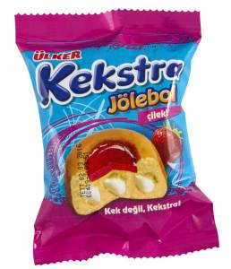 ÜLKER KEKSTRA ÇİLEKLİ STRAWBERRY JELLY CAKE 34 GR (24 PCS) from TURKEY