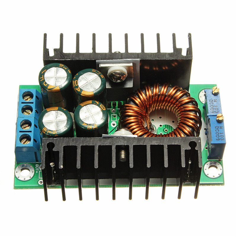 DC-DC CC CV Step-down Buck Converter Adjustable Power Supply ModulePower Module 7-32V to 0.8-28V 12A 300W Inverters Converter 22v 16 32v to 28v dc dc converter 10a 280w 320g 74cm for gps mp3