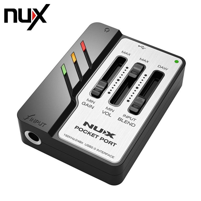 NUX PocketPort Portable Guitar USB Audio Interface Low Power Consumption Professional for Guitar Recording Free Shipping nux uc 2 mini port usb audio interface