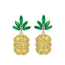 European Jewelry Crystal From Swarovski Time-limited Plant 2017 New Sale Wholesale Selling Angel Wings pineapple Earring(China)