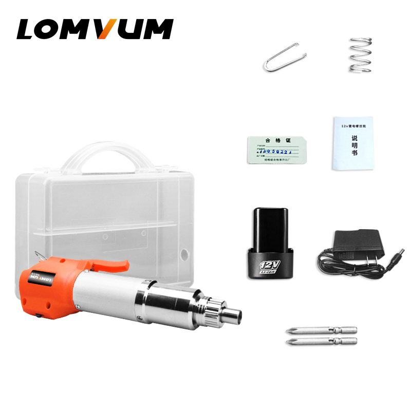 цена на LOMVUM Electric cordless screwdriver Torque Adjustment Electrric Screw Driver Metal Body screwdriver power tools