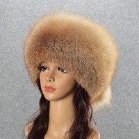 Natuurlijke Vos Bontmuts Winter Vrouwen Bontmuts Zilver Vossenbont hoge Kwaliteit Luxe Wit Vos Bontmuts warme Hoofddeksels gratis verzending