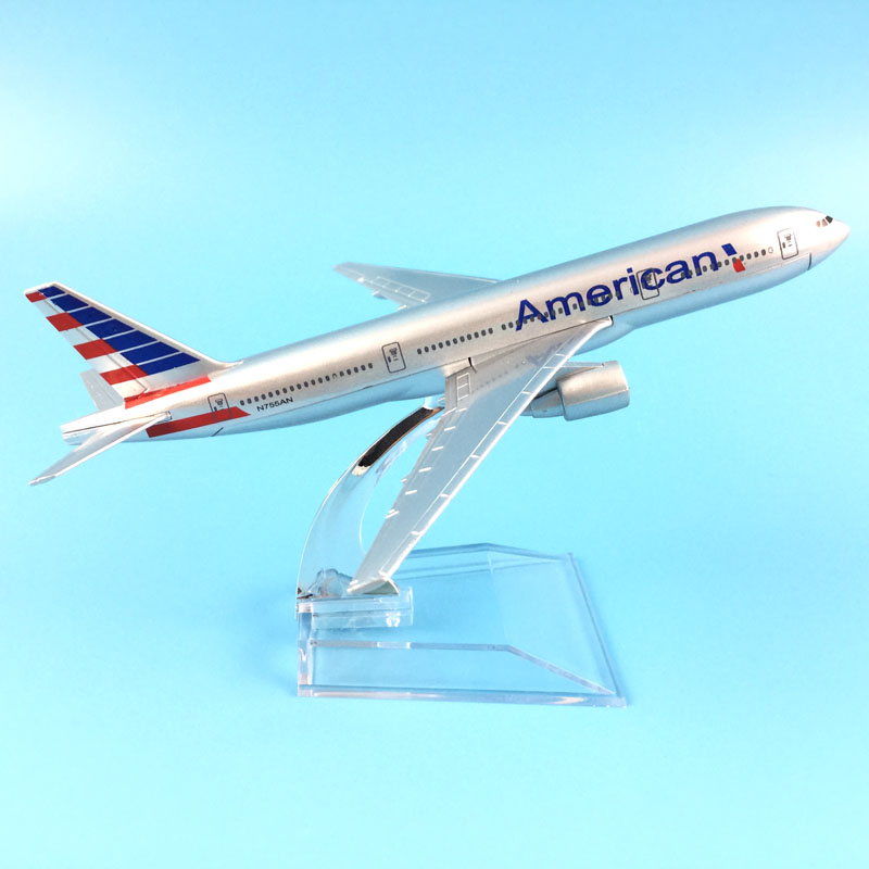16 CM AIR AMERICAN  AIRPALN BOEING 777 AIRCRAFT MODEL PLANE CHRISTMAS GIFTS TOY FOR CHILDREN ORNAMENT