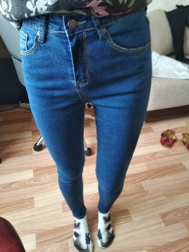 Women'S High Waist Jeans Skinny Jeans Woman Plus Size Black Mom Jeans Femme Pencil Denim Pants Vaqueros Mujer Spodnie Damskie photo review