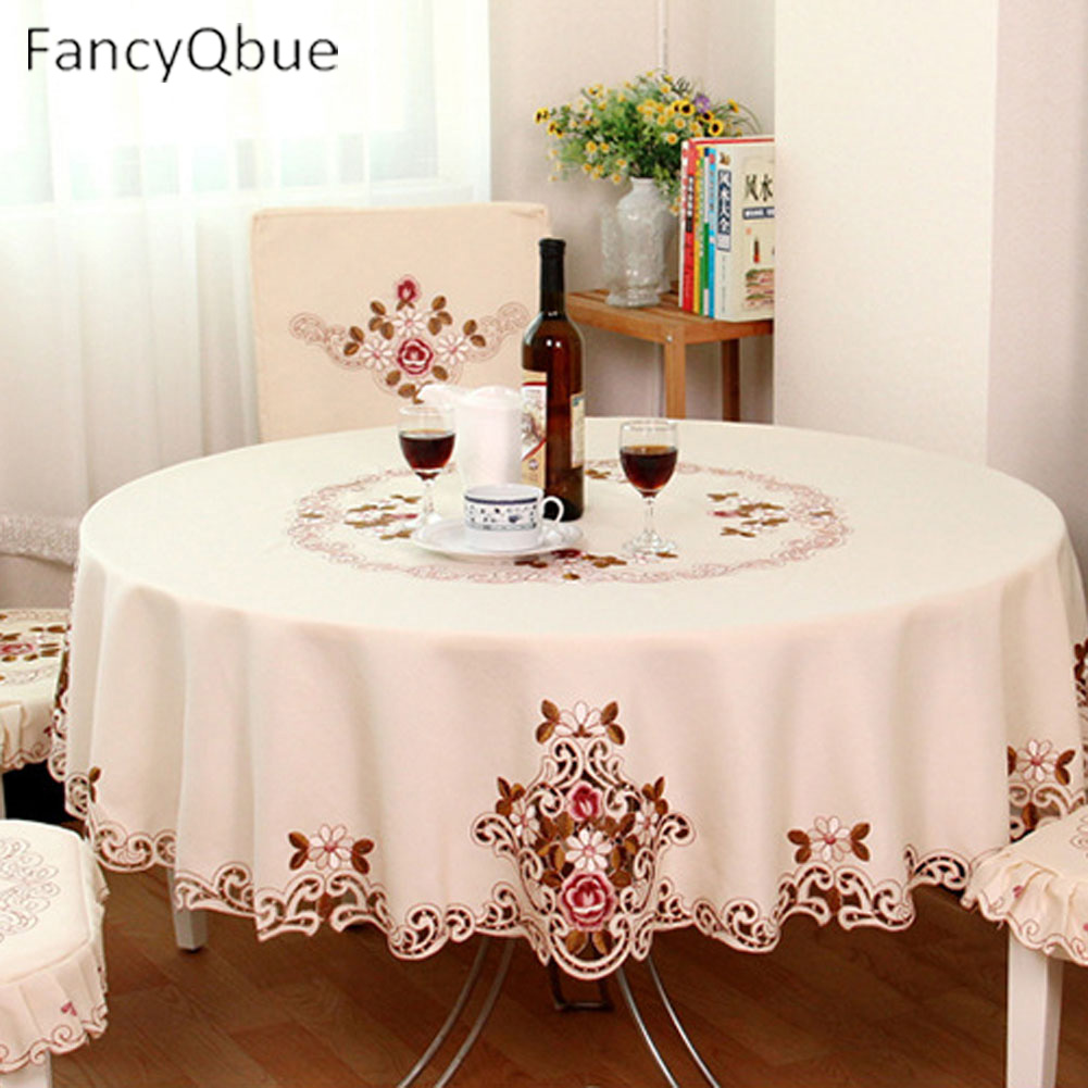 Beau 1 Piece Elegant Table Cloth/Exquisite Embroidery Fabric Art Tablecloth/  Modern Rural Style Round Tablecloth  In Tablecloths From Home U0026 Garden On  ...