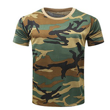 New Camouflage T shirt Men Breathable Army Tactical Combat T Shirt Military Dry Camo Camp Tees