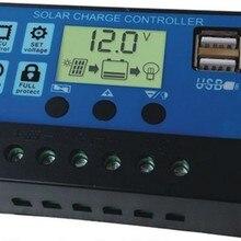 Новая версия 30A Солнечный контроллер с двойным USB 5 В выход, 12 В/24 В автоматический режим для солнечной панели системы, солнечное освещение