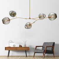 Modern Pendant Lights Glass Pendant Lamps Globe Branching Bubble Hanglamp For Living Room Kitchen Fixtures Light Lustre Lighting