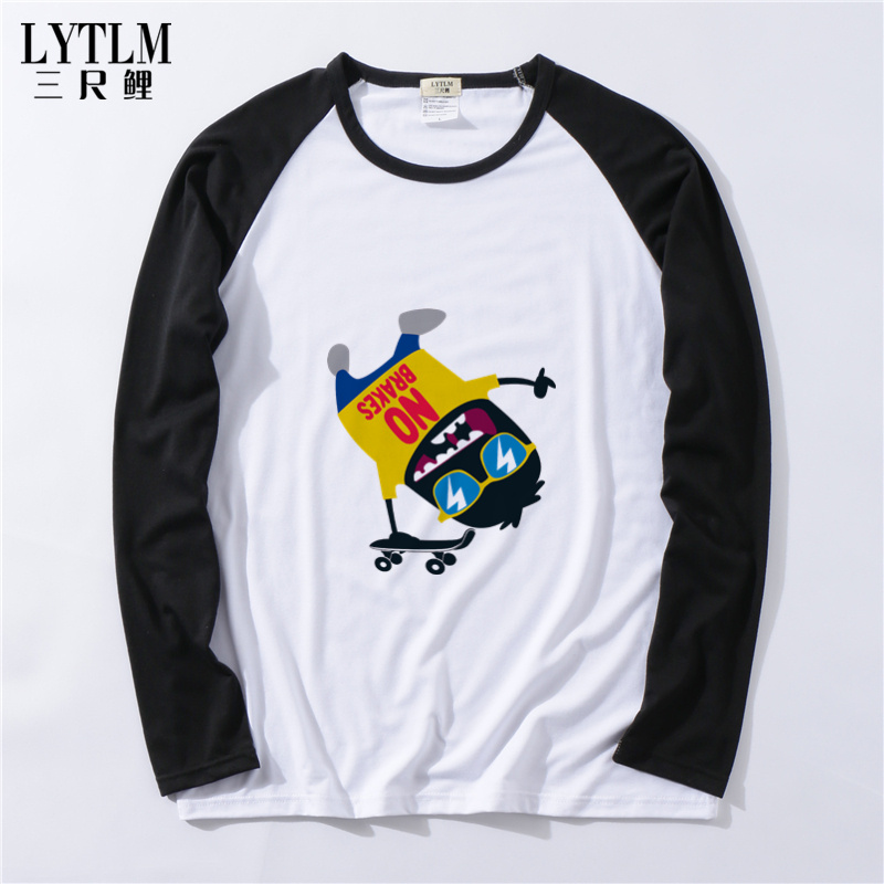 3/4 Sleeve T Shirts Raglan Jersey Shirts Baby Boy Fashion T-shirt Top Street Skate Children Clothing Autumn T Shirts Toddler Tee