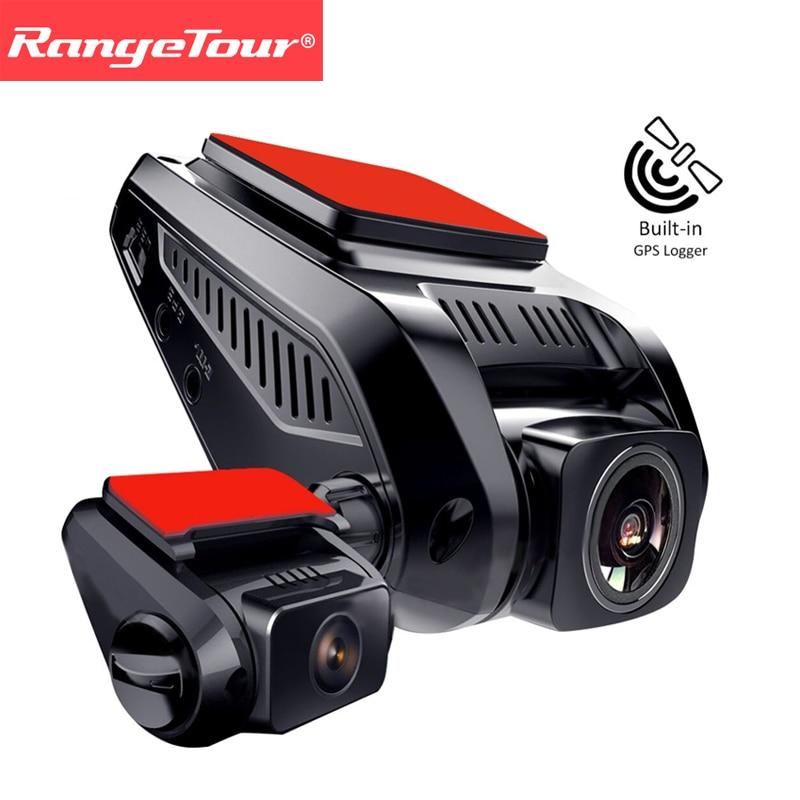 все цены на Dash Cam Built-in GPS Logger Dual Lens Car DVR Vehicle 2 Camera Novatek Full HD 1080P +720P Rear Car Dashcam Video Recorder онлайн