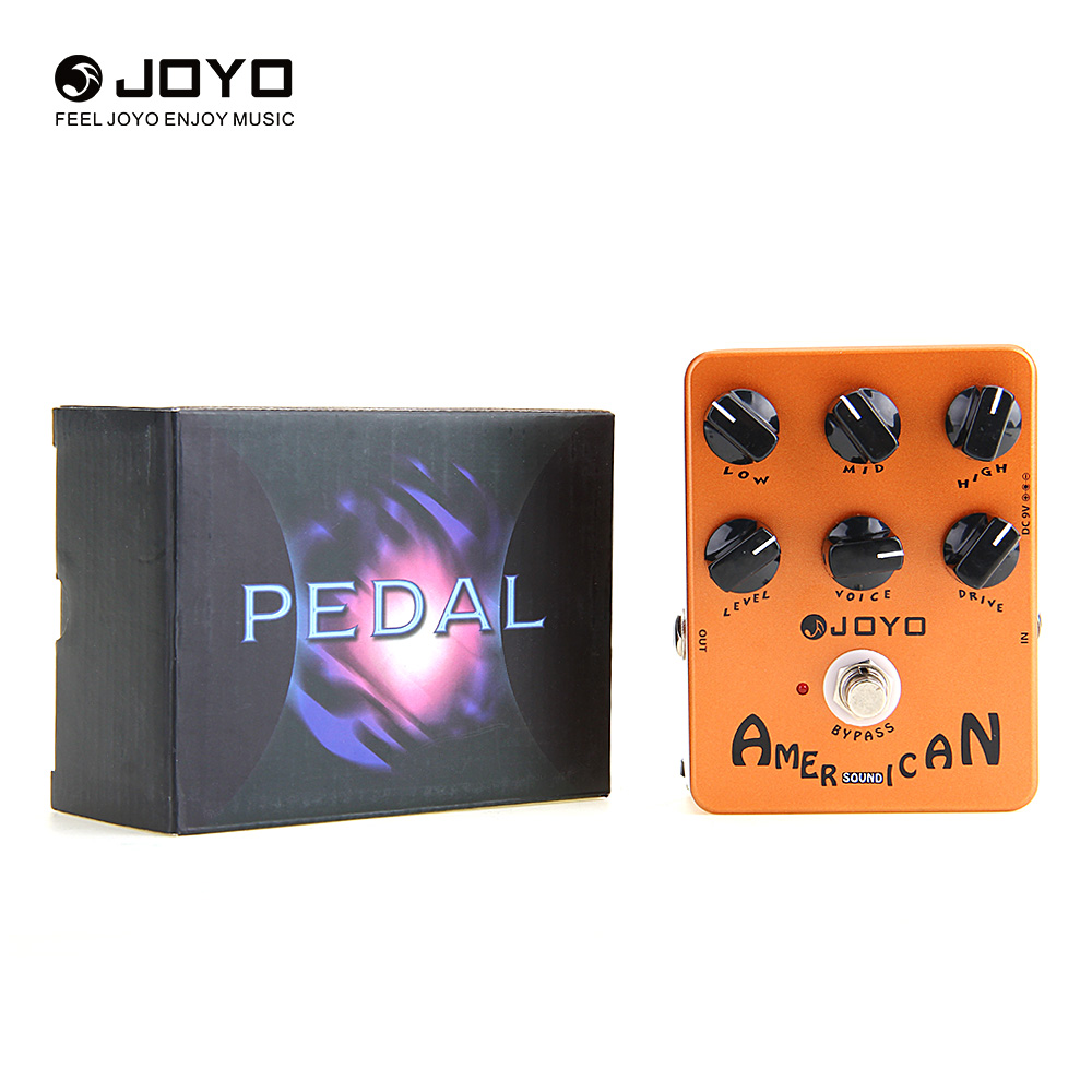 American Sound Amp Simulator Electric Guitar Effect Pedal True Bypass Design 6 Adjustable Knobs original sound Voice-Control new effect pedal mooer hustle drive distortion pedal true bypass excellent sound