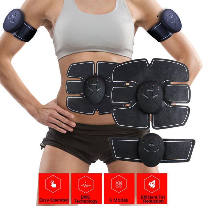 EMS Waist Exerciser Device Abdominal Muscles Machine Intensive Training Electric Vibration Plate Weight Loss Slimming Massager